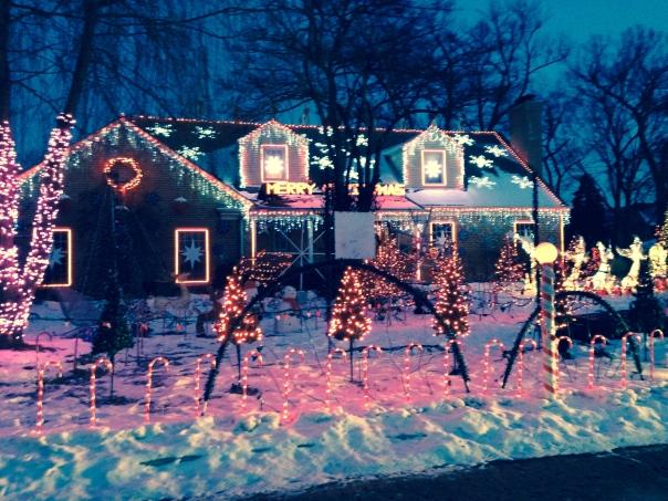 The lights sparkle!