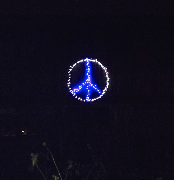 ...and more peace (this house has a peace sign on it all year long)