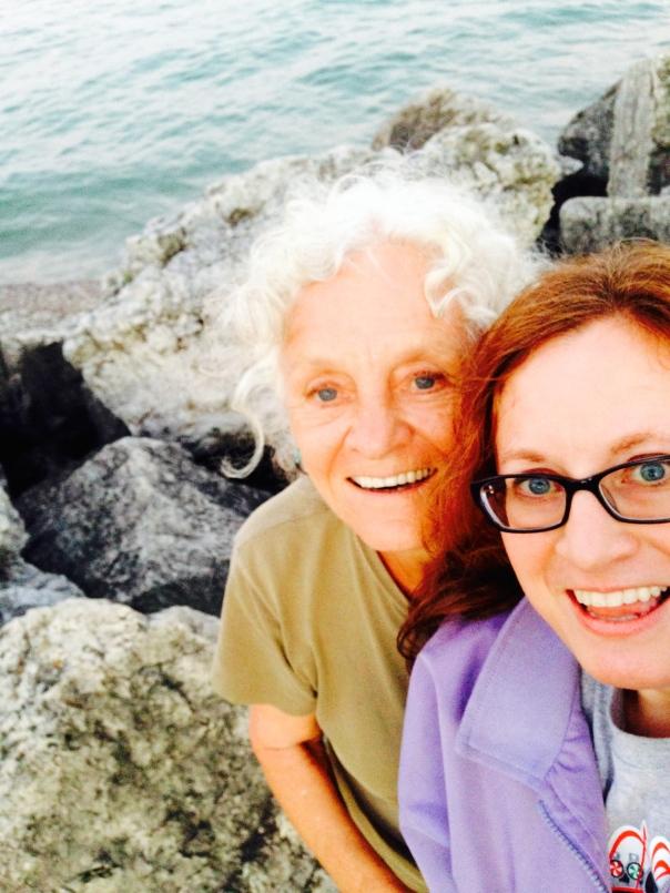 A Rocky Selfie with Mom :)