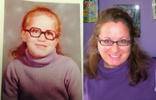 Some of you might be thinking I haven't changed over the years...Purple Rein  Then and This Morning